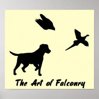 Labrador and Falconry Poster