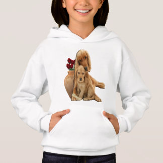 Labrador and puppies hoodie