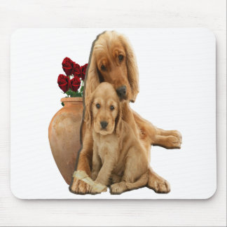 Labrador and puppies mouse pad