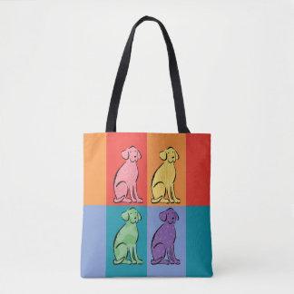 Labrador Art Color Blocks Tote Bag
