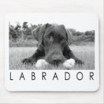 Labrador B&W Mousepad