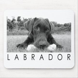 Labrador B&W Mouse Pad