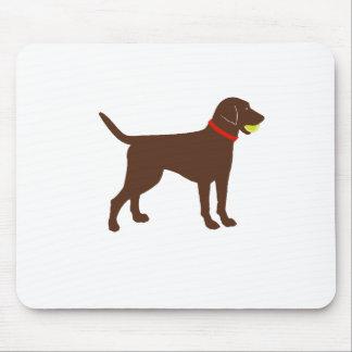 labrador ball fetch, chocolate lab play mouse pad
