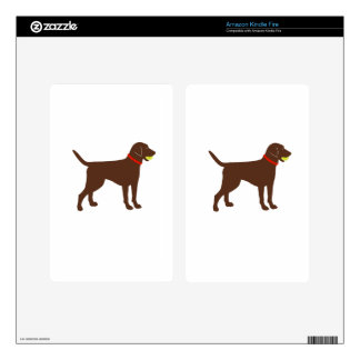 labrador ball fetch, chocolate lab play kindle fire decal