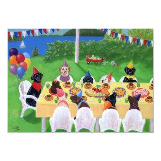 Labrador Birthday Party Invitations
