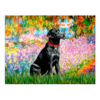 Labrador (Black) - Garden Postcard