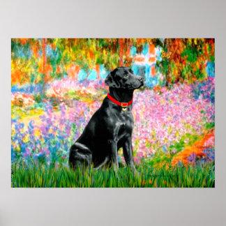 Labrador (Black) - Garden Poster