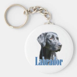 Labrador (black) Name Key Chains