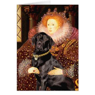 Labrador (black) - Queen Card