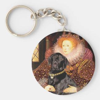 Labrador (black) - Queen Keychain