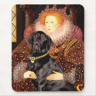 Labrador (black) - Queen Mouse Pad