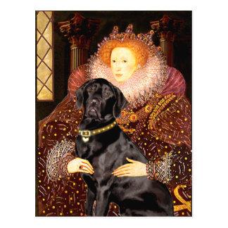 Labrador (black) - Queen Postcard