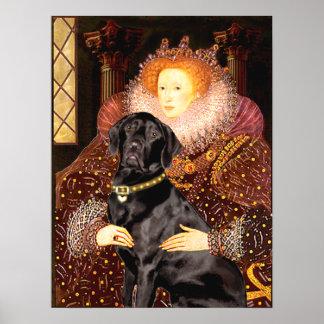 Labrador (black) - Queen Poster