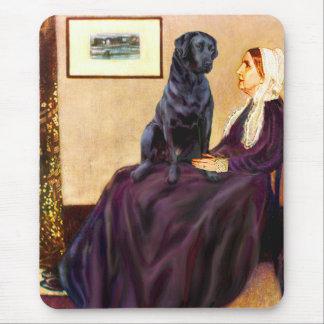 Labrador (Black) - Whistler's Mother Mouse Pad