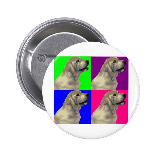 Labrador Bright Color Collage 2 Inch Round Button