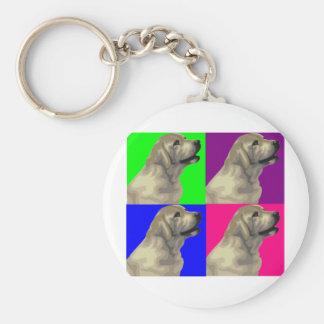 Labrador Bright Color Collage Basic Round Button Keychain