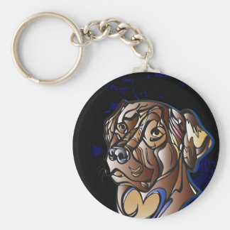 Labrador Button Key Chain
