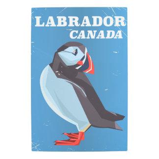 Labrador Canada Puffin vintage travel poster