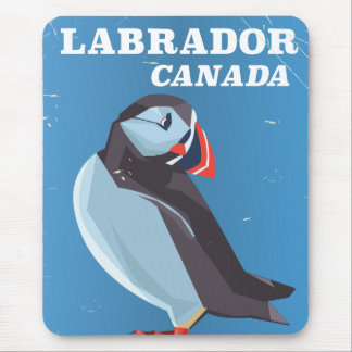 Labrador Canada Puffin vintage travel poster Mouse Pad