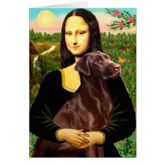 Labrador (Chcolate) - Mona Lisa Card