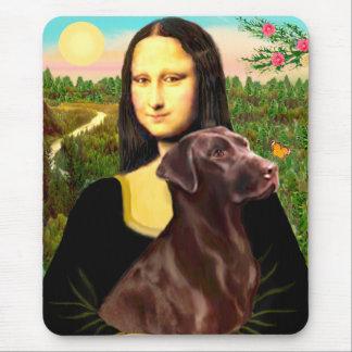 Labrador (Chcolate) - Mona Lisa Mouse Pad