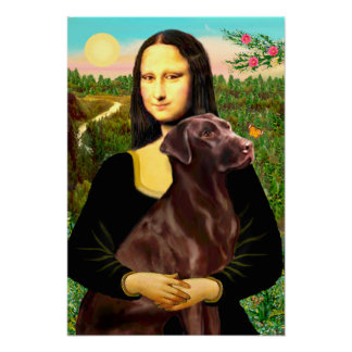 Labrador (Chcolate) - Mona Lisa Posters