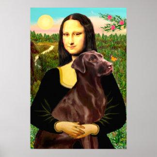 Labrador Chcolate - Mona Lisa Print