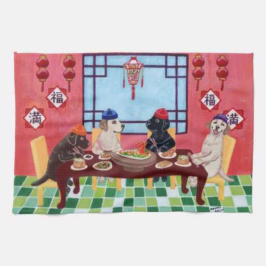 Labrador Chinese Restaurant Painting Kitchen Towels