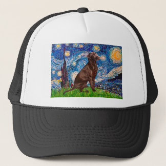 Labrador (Chocolate1) - Starry Night Trucker Hat