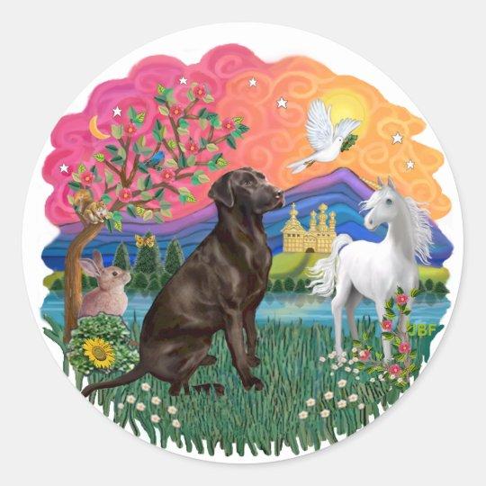 Labrador (Chocolate) Classic Round Sticker