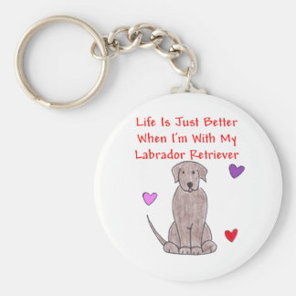Labrador Chocolate Life Is Just Better Keychain