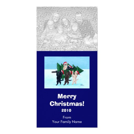 Labrador Christmas Painting Photocards Picture Card