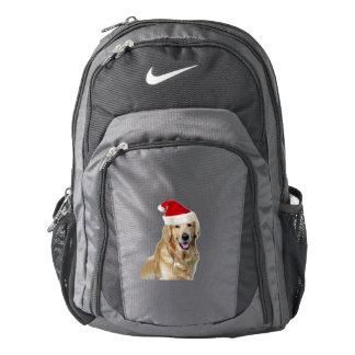 Labrador christmas-santa claus dog-santa dog-pet backpack