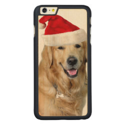 Carved iPhone 6 Plus Slim Wood Case with Golden Retriever Phone Cases design
