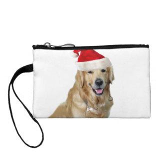 Labrador christmas-santa claus dog-santa dog-pet change purse