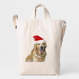 Labrador christmas-santa claus dog-santa dog-pet duck bag