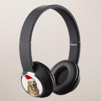 Labrador christmas-santa claus dog-santa dog-pet headphones