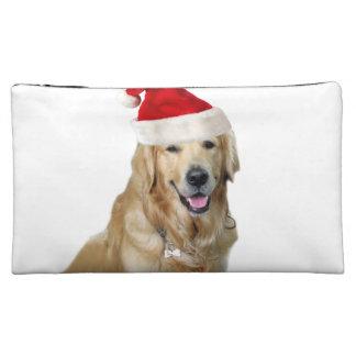 Labrador christmas-santa claus dog-santa dog-pet makeup bag