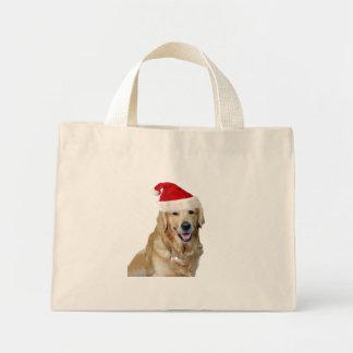 Labrador christmas-santa claus dog-santa dog-pet mini tote bag