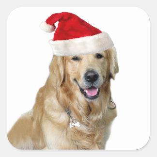 Labrador christmas-santa claus dog-santa dog-pet square sticker