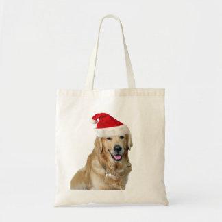 Labrador christmas-santa claus dog-santa dog-pet tote bag