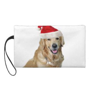 Labrador christmas-santa claus dog-santa dog-pet wristlet purse