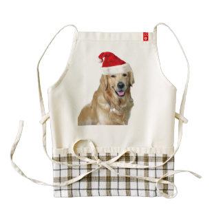 Labrador christmas-santa claus dog-santa dog-pet zazzle HEART apron