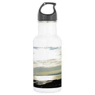 Labrador Coast Blue Skies and Beach Water Bottle