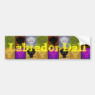Labrador Dali Bumper Sticker