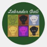 Labrador Dali pegatina de 3 pulgadas