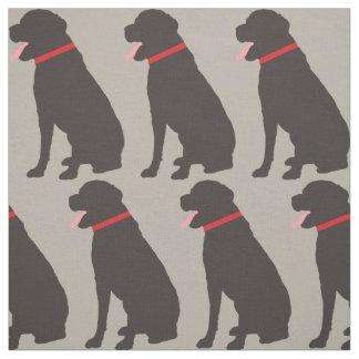 Labrador Dog Chocolate Pattern Fabric