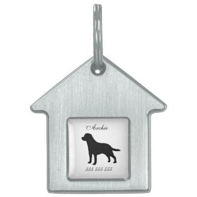 Pet dog id black blue for small dogs pet name tag zazzle sciox Choice Image