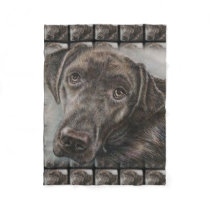 Labrador Dog Design of Animal Art Fleece Blanket