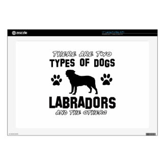 "Labrador dog Designs 17"" Laptop Decals"